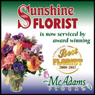 Sunshine Florist is now serviced by McAdams Floral