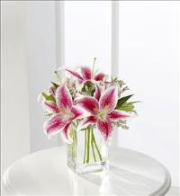 The FTD® Pink Lily Bouquet - VASE INCLUDED by Suinshine Florist