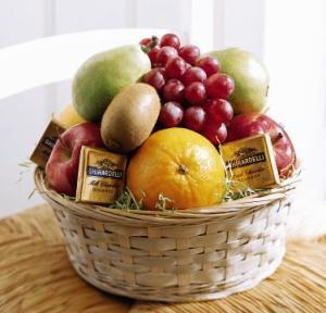 Fruit and Chocolate Basket by Suinshine Florist