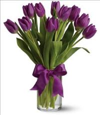 Passionate Purple Tulips by Suinshine Florist
