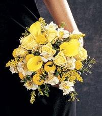Mixed Yellow Nosegay by Suinshine Florist