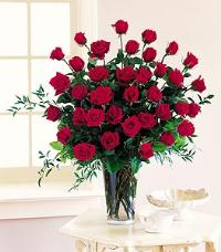 Three Dozen Red Roses by Suinshine Florist