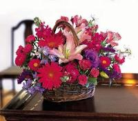 Hot Pink Basket by Suinshine Florist