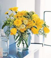 Ginger Jar with Bright Yellows by Suinshine Florist