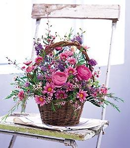 Basket of Blossoms by Suinshine Florist