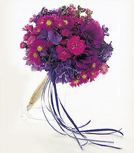 Blue & Purple Nosegay by Suinshine Florist